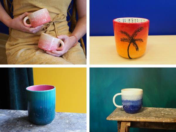 Dégradé de couleurs sur céramique