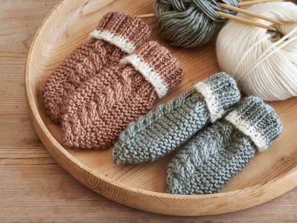 moufles tricotées